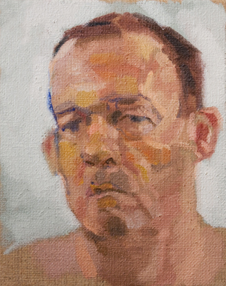 This is an oil painting portrait of paul